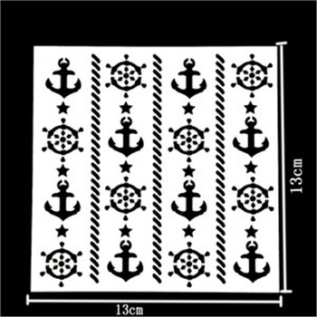 1 Pcs Reusable Rudder Shape Stencils DIY Airbrush Painting Stencils Scrapbooking Album Crafts Free Shipping image