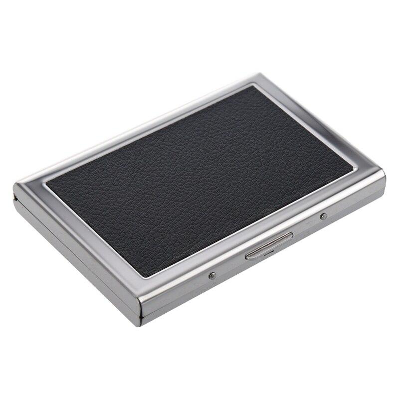 Portefeuille de poche étanche en aluminium étui de boîte de transport de carte de crédit d'affaires noir - 4