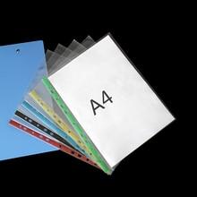10 шт., 11 отверстий, А4, папка для презентаций, вертикальная сумка, папка, держатель, для офиса, школы, канцелярские принадлежности, бизнес Обложка для файлов, для хранения