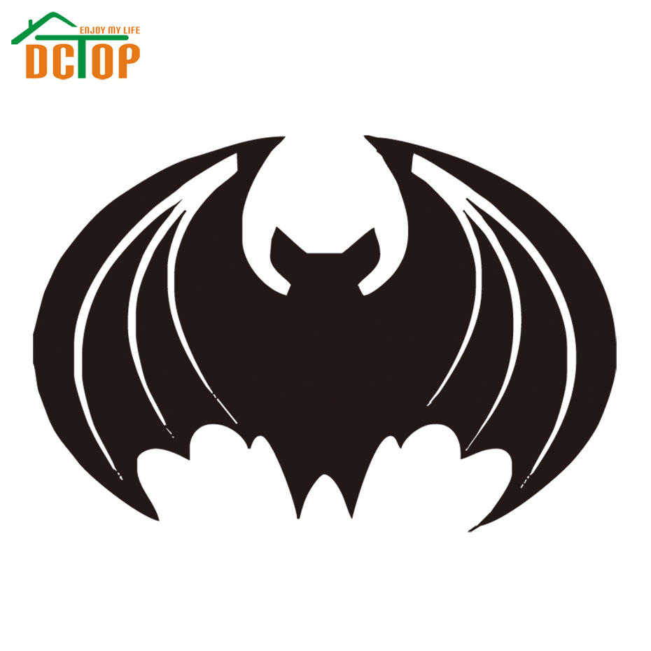 Party Black Bat Wall Art Decals Car Styling Window Auto Switch Sticker Waterproof Removable Vinyl On Goods