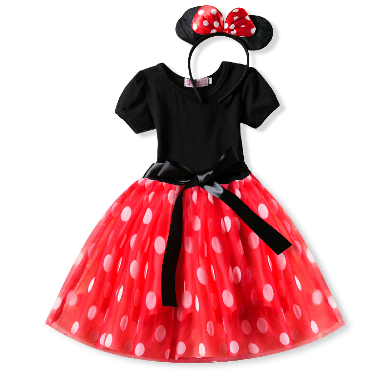 Baby Girl Dress Minnie Mouse Dress for Girls Birthday Party Costumes Tutu Dresses Kids Cake Dance Dress for Wedding Clothes