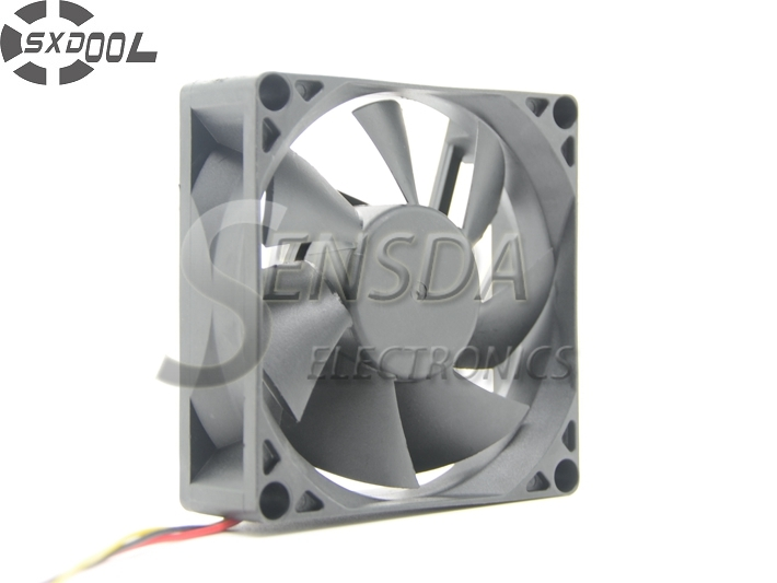 SXDOOL 80 mm case fan 8025 80*80*25 mm Sleeve Bearing DC 12V 0.22A 3pin server inverter pc ангельские глазки 80 mm