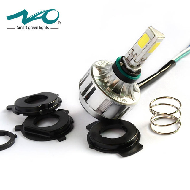 NAO Motorcycle H4 LED Headlight Bulb flasher motos lamp for ktm exc cafe racer harley 32W 3000LM 12V HS1 Super Light #M3S