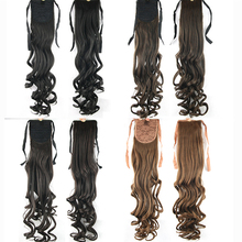 68cm Synthetic Hair Ponytails Clip In On Hairpieces Ponytail Drawstring Wiglets Hair Extension Tie Fake Ponytail Curly For Women