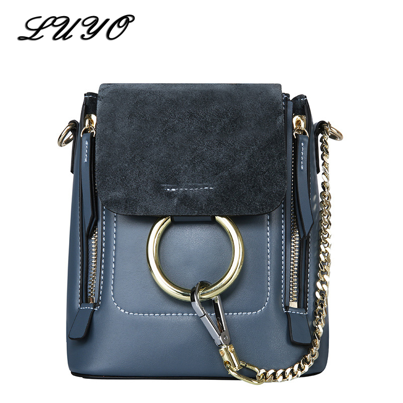 Famous Brands Genuine Leather Suede Luxury Handbags Women Bags Designer Crossbody Shoulder Bags For Female Ring Bag Femmes Sac luxury genuine leather bag female designer smiley trapeze ladies hand bags handbags women famous brands shoulder bags sac femme