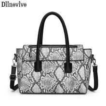 DIINOVIVO Serpentine Woman's Handbag Brand Bag Luxury Crossbody Bags For Women Tote Bag New PU Leather Female Handbags WHDV1165