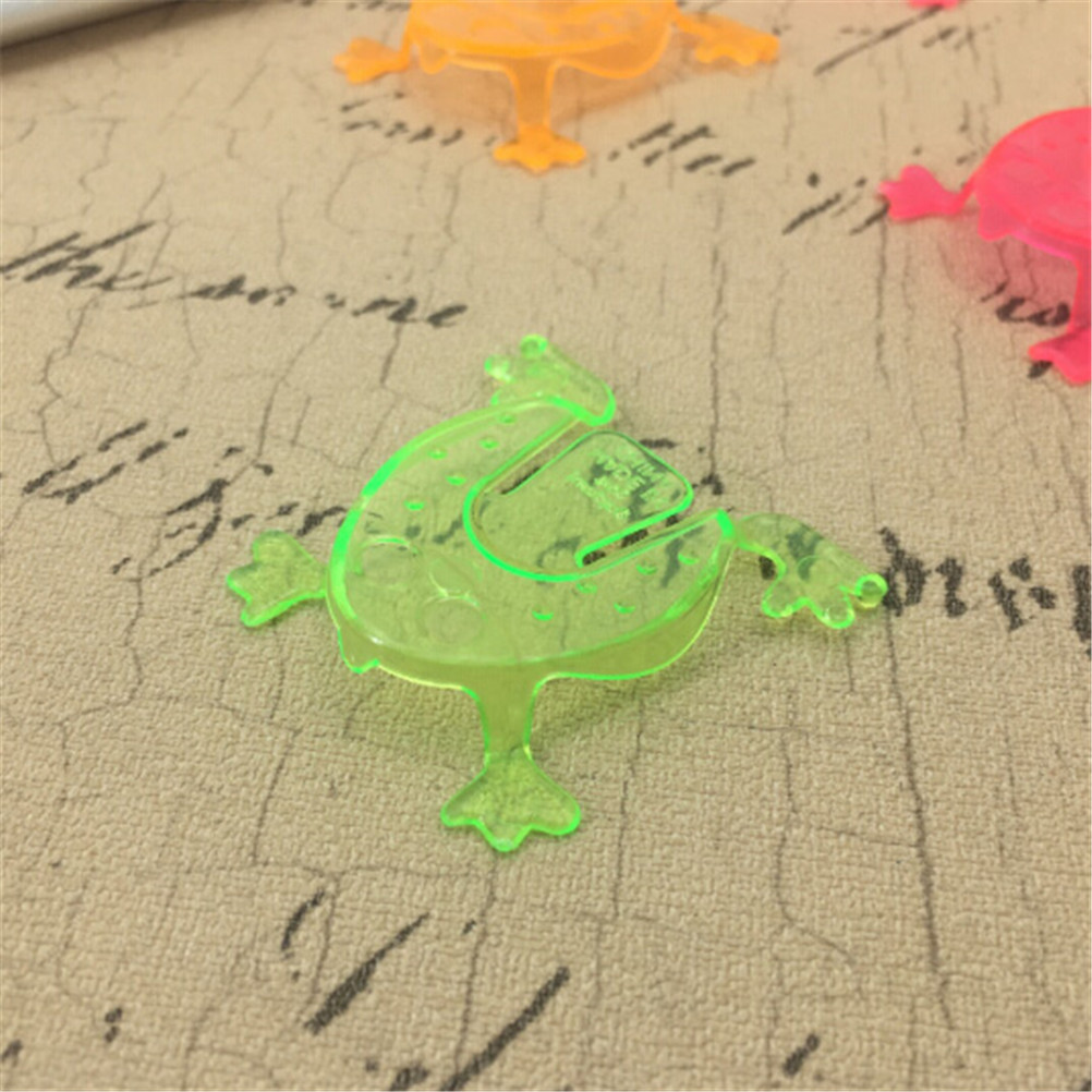 10PCS 4.3*4.3cm Jumping For Girl Boy Goody Bag Pinata Fillers Frog Hoppers Game Kids Gift Toys Birthday Party Toys