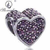 Slovecabin Gros Réel 100% 925 Sterling Argent Forever Love Coeur Perles Pour Bijoux De Mode Faire Diy Charmes Bracelets