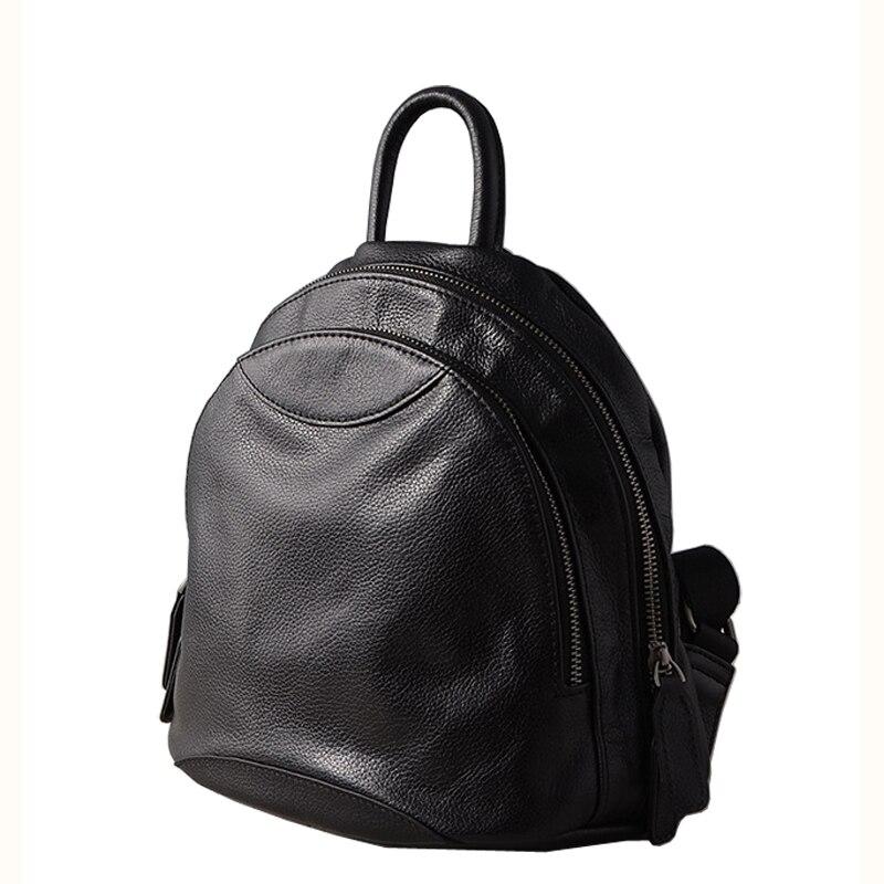 Haute qualité femmes cartable 100% doux en cuir véritable sacs à dos filles sac de mode voyage sac à dos petites dames école sac à dos