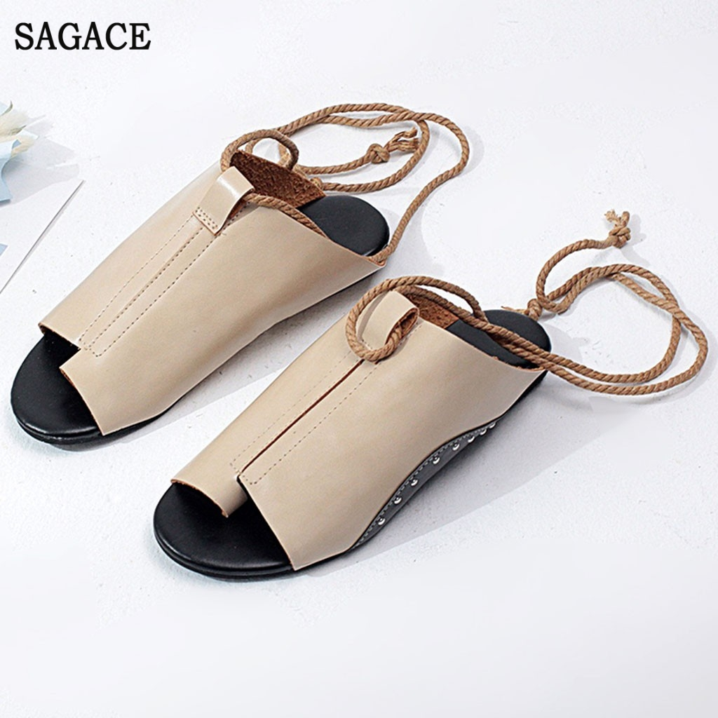 SAGACE Womens Flat-Bottomed Roman Sandals Sexy High Quality Outsid Ladies Shoes Open Toe Ankle Straps Platform Wedges ShoesSAGACE Womens Flat-Bottomed Roman Sandals Sexy High Quality Outsid Ladies Shoes Open Toe Ankle Straps Platform Wedges Shoes