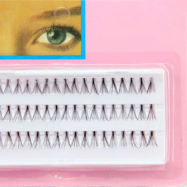 8/10/12mm Individual Black False Lashes  (120 Pcs)