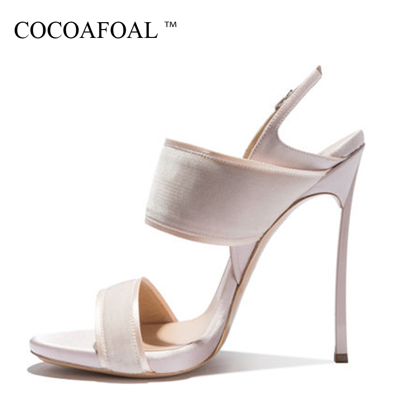 COCOAFOAL Women Pink Open Toe Sandals Plus Size 33 43 Gladiator Bridal Shoes Party Sexy Peep Toe Heel Height Wedding SandalsCOCOAFOAL Women Pink Open Toe Sandals Plus Size 33 43 Gladiator Bridal Shoes Party Sexy Peep Toe Heel Height Wedding Sandals