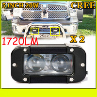 Free DHL UPS Fedex Ship 5 20W 1720LM 10 30V 6500K LED Working Bar Led Offroad