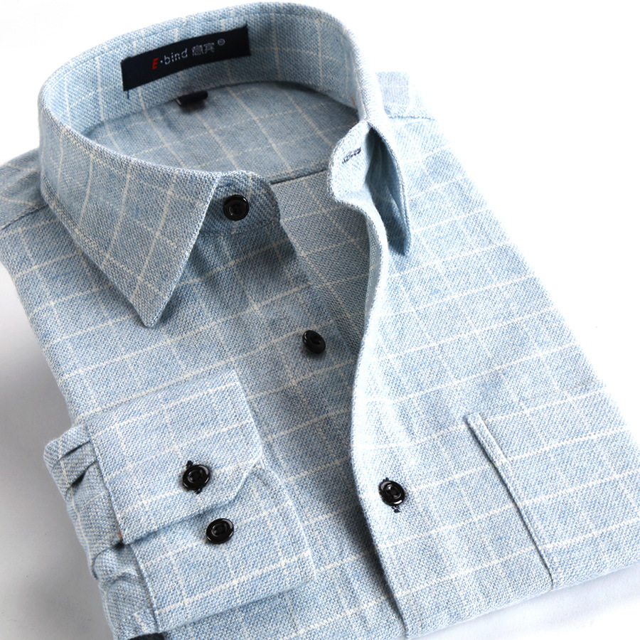 XHS1 2018 primavera nuevo algodón de los hombres camisa a cuadros de manga larga Juventud popular moda marea ropa de hombre