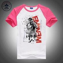 Hot selling Mixed color fashion clothes Rapper Eminem  men's short sleeve t shirt