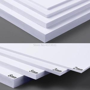 Image 1 - 5 قطعة 300x200 مللي متر أبيض/أسود ألواح فوم بلاستيكية من البولي فينيل كلورايد لتقوم بها بنفسك بناء نموذج مواد صناعة يدوية نموذج صنع مادة بلاستيك لوح مسطح