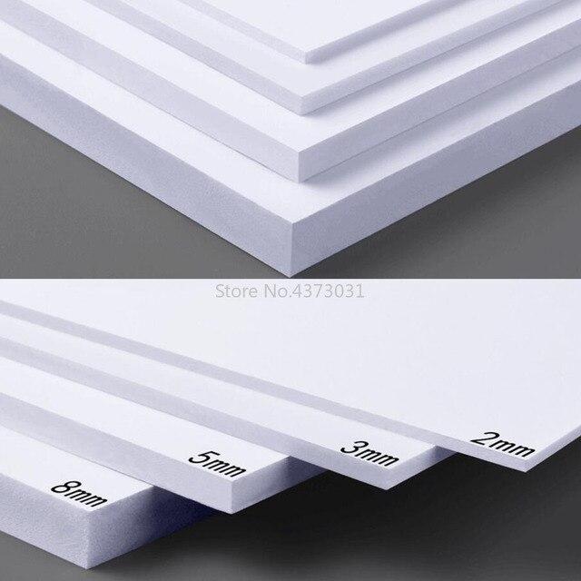 5 قطعة 300x200 مللي متر أبيض/أسود ألواح فوم بلاستيكية من البولي فينيل كلورايد لتقوم بها بنفسك بناء نموذج مواد صناعة يدوية نموذج صنع مادة بلاستيك لوح مسطح