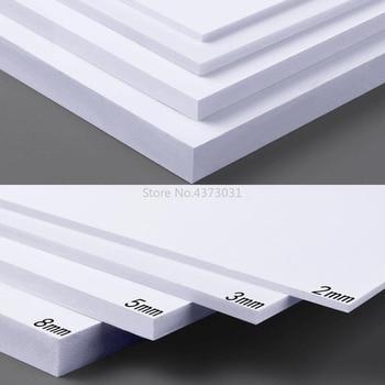 5 pcs 300x200mm Wit PVC foam board Voor DIY Building model materialen Handgemaakte modelbouw materiaal plastic platte board