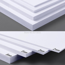 5pcs 300x200mm DIY 빌딩 모델 재료에 대 한 화이트/블랙 PVC 폼 보드 손수 만든 모델 만들기 소재 플라스틱 플랫 보드