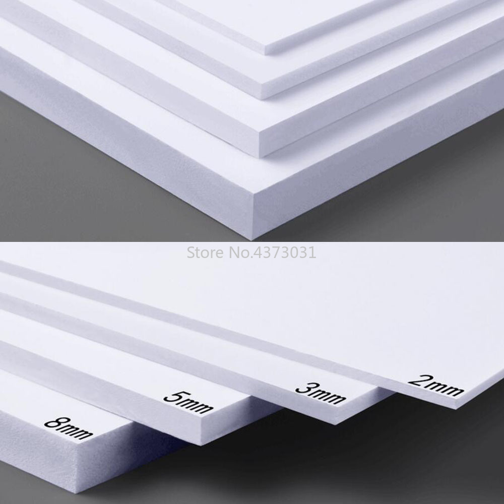 5pcs 300x200mm White/Black PVC Foam Board For DIY Building Model Materials Handmade Model Making Material Plastic Flat Board