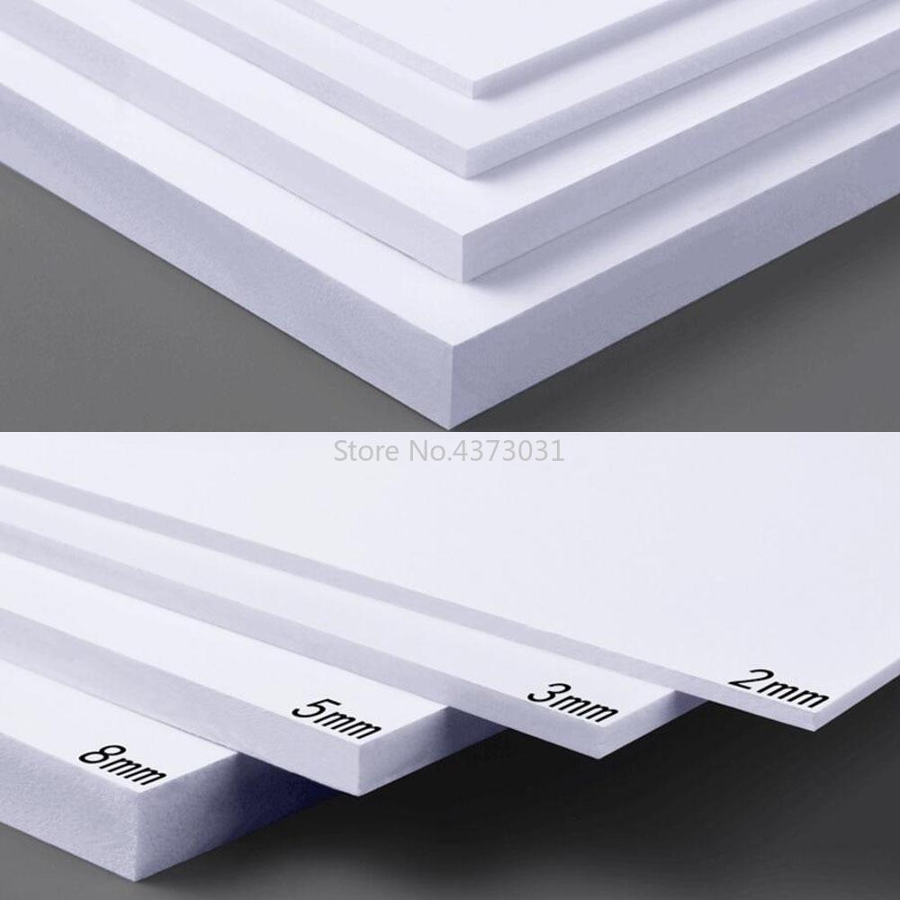 5pcs 300x200mm White/Black PVC Foam Board For DIY Building Model Materials Handmade Model Making Material Plastic Flat Board