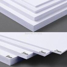 Tablero de espuma de PVC blanco/negro para manualidades, materiales de modelismo hechos a mano, tablero plano de plástico, 300x200mm, 5 uds.