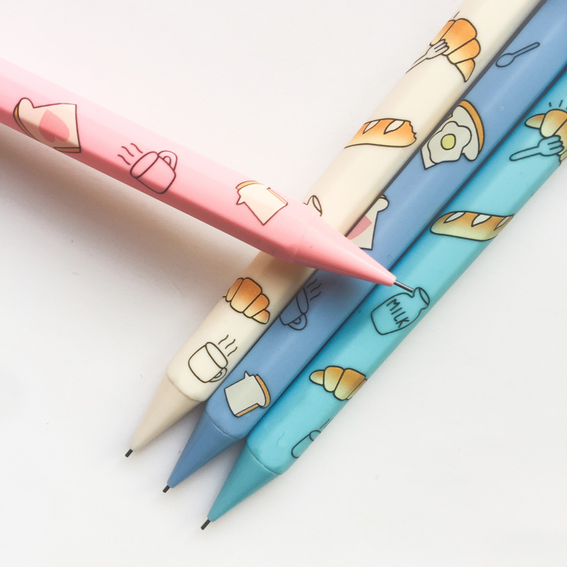 K46 4X Bread Milk Press Mechanical Pencil Writing School Office Supply Student Stationery Automatic Pencil 0.5mm