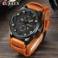 New CURREN Watches Luxury Brand Men Watch Leather Strap Fashion Quartz Watch Casual Sports Wristwatch Date