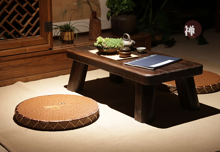 (2pcs/lot) Floor Seating Chair Cushion Zabuton Zafu Round 45cm Meditation  Seat Japanese Tatami Mat Zafu Zabuton Cushion Straw In Cushion From Home U0026  Garden ...
