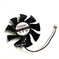 Ventilador de Refrigeração da placa Gráfica VGA Cooler FD8015H12S 75mm 12 V 0.32A 2 Fio 2Pin Para Safira HD4860 HD4890 HD5770 HD5870 HD6770 HD6790