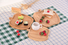 Apple pear leaf Bamboo hotel creative tray home real bamboo tea plate restaurant simple meal fruit pastry