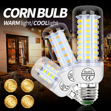 CanLing 2018 LED Lamp 220V E27 5730 SMD Corn Light E14 Bulb AC 200-240V Ampoule Led Candle 24 36 48 56 69 72leds