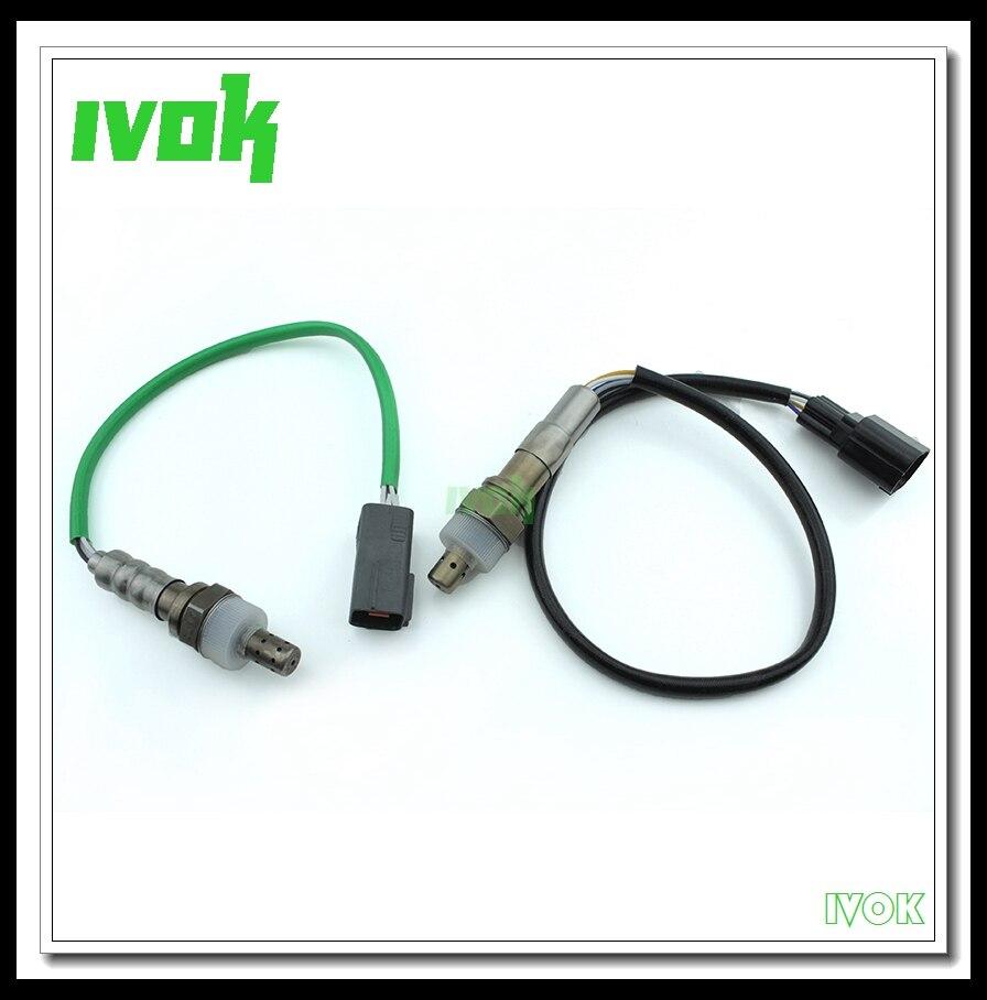 2X Front & Rear Lambda Sensor O2 Oxygen Sensor For Mazda 3 II 2.0L 2010-2013 LF8R-18-8G1 L541-18-861A h7700274189 lambda probe oxygen sensor for dacia duster 1 6 l 2010 2011 renault clio ii1 2 l2001 o2 oxygen sensor car supplies%3