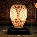Bonito De Madeira Porcelana Decoração de Casa Candeeiro de Mesa Pequena Luz Noturna Presente de Casamento Dia Dos Namorados Dia das Mães