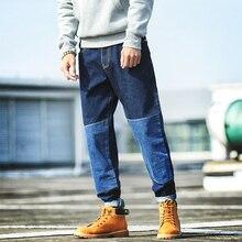 Babbytoro мужские джинсы мода весна осень хлопок джинсы свободный стиль прямо пят джинсы плюс размер 5xl 4xl м