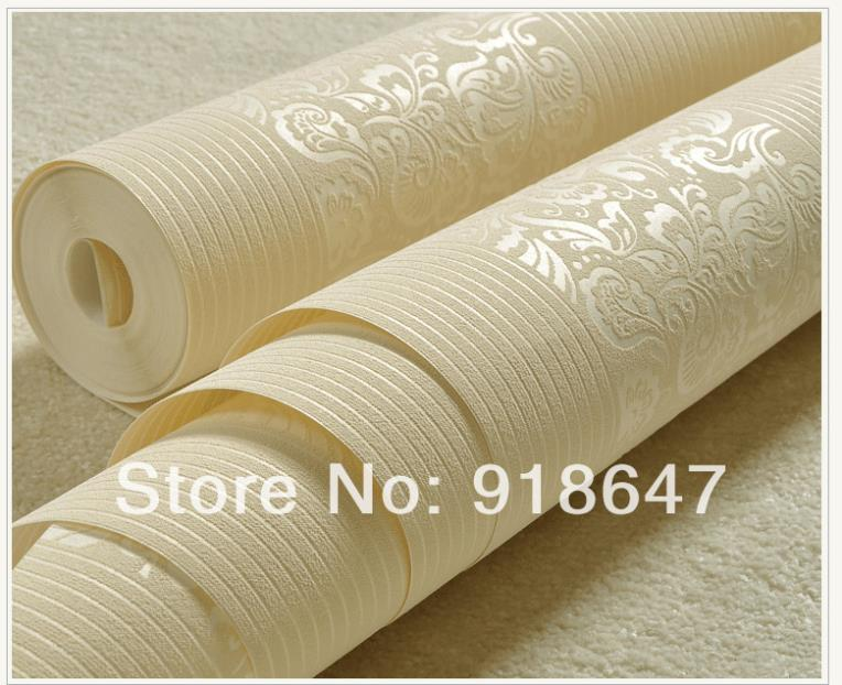Wholesale High Quality Plain Stripe  Flower Wood Fabric Modern Classic Wall Paper Rolls/Wallpaper Bedroom,Living Room 5Rolls/lot high quality 2size butterfly flower forming follow board easy magic making template mould for fabric flower design tool