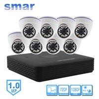 Smar мини 8CH видеонаблюдения NVR 720 P купольная ip камера Камера комплект встроенный IR CUT фильтр 1080P HDMI Выход сети Камера Системы дома безопасности