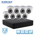 Smar Mini 8CH CCTV Kit NVR 720 P Câmera Dome IP construído em Filtro IR-CUT 1080 P HDMI Saída de Rede Sistema De Câmera Em Casa segurança
