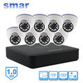 Smar Mini 8CH CCTV NVR 720P Dome IP Camera Kit Built-in IR-CUT Filter 1080P HDMI Output Network Camera System Home Security