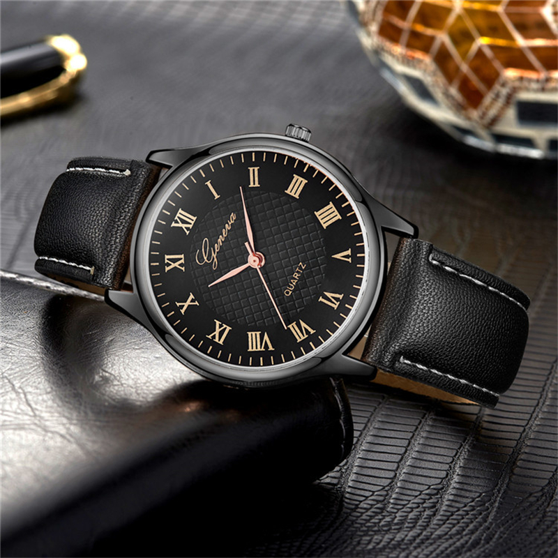 Lether Band Watches Men Business Military Casual Quartz Wristwatches Suit Clock Male Watches Gift For Husband Relogio Masculino