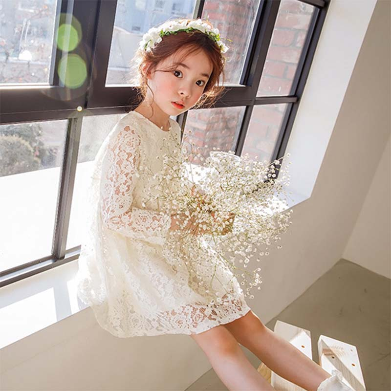 summer kids girls lace princess dress toddler baby girl dresses for party and wedding flower children clothing age 10 formal new fashion embroidery flower big girls princess dress summer kids dresses for wedding and party baby girl lace dress cute bow