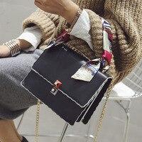 Winter 2016 new Korean fashion scarves bags chain small bag multi shoulder diagonal cross bags wholesale