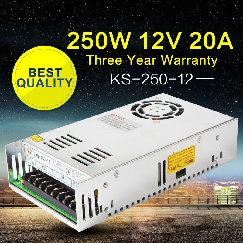 AC-DC 12VDC Power Supply DC UPS Power Supply for PC Computer LED Module Light Monitor CNC Power Supply Power Source 12V 250W dc ups power module uninterruptible power supply computer access control security industrial control dc backup power supply