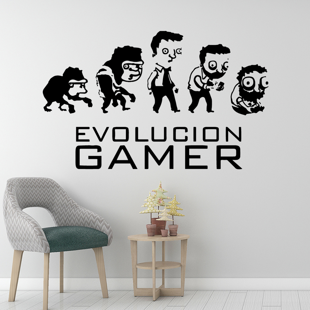 Beauty Evolution Gamer Wall Sticker Home Decoration Accessories Nursery Room Decor Murals