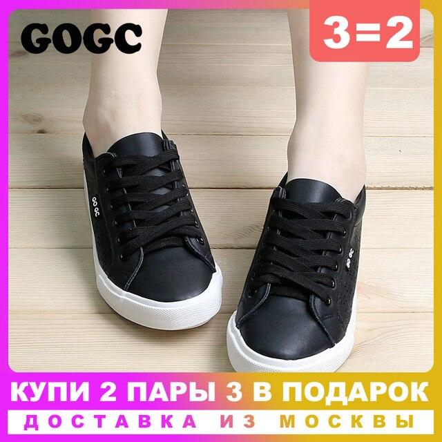GOGC Thiết Kế Giày Phụ Nữ Sang Trọng Mùa Hè Thoáng Khí Căn Hộ của Phụ Nữ Giày Phụ Nữ Slipony Giày với Phụ Nữ Lỗ của Vulcanize Giày 917