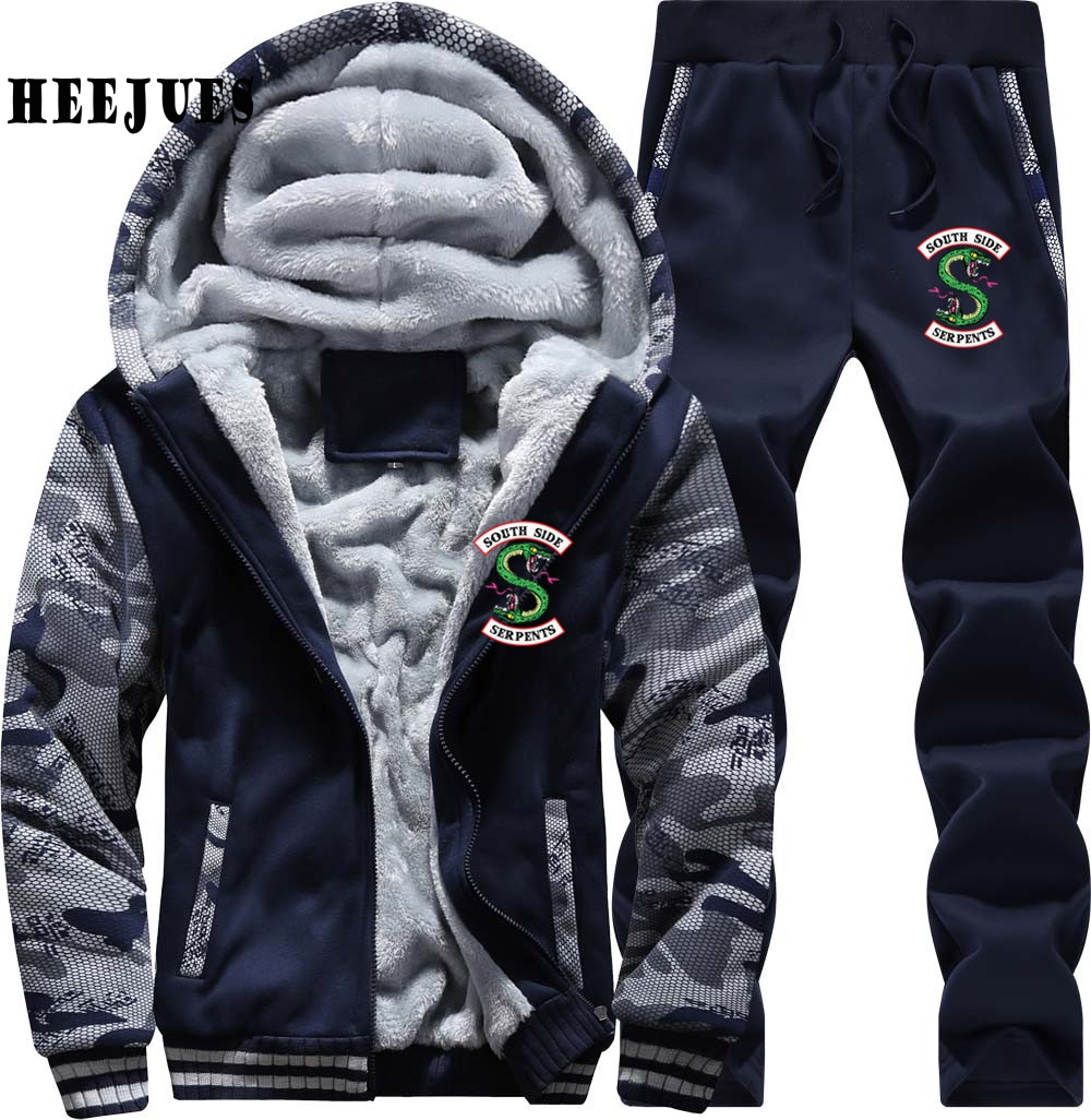 Dropshipping Riverdale South Side Serpents Jacket Coats Customized Tracksuit Mens Long Sleeved Men Hoodies Sweatshirt Pants
