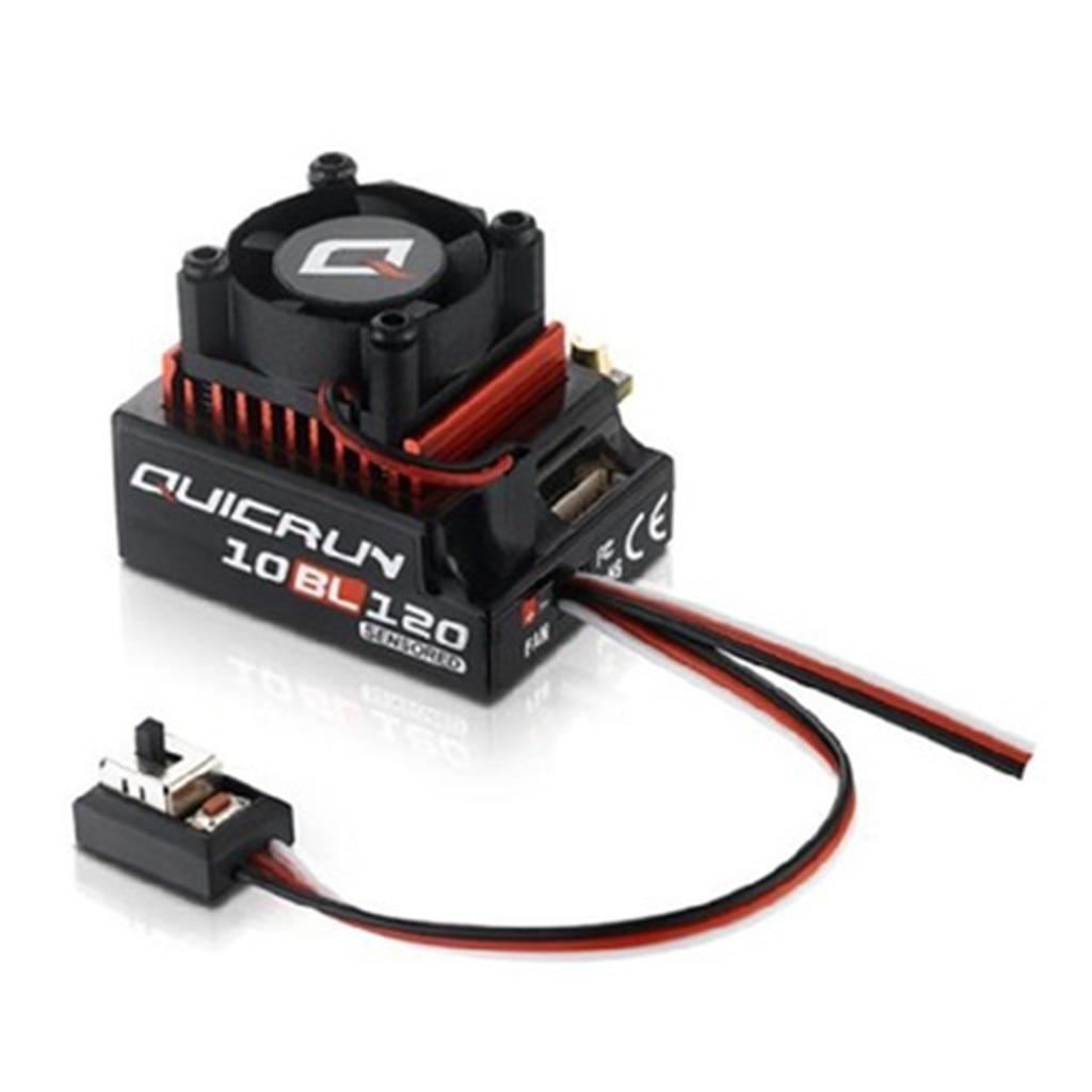 HobbyWing QuicRun 1/10 sans balais 120A ESC 10BL120 pour voiture 1:10 accessoires jouets pour enfants