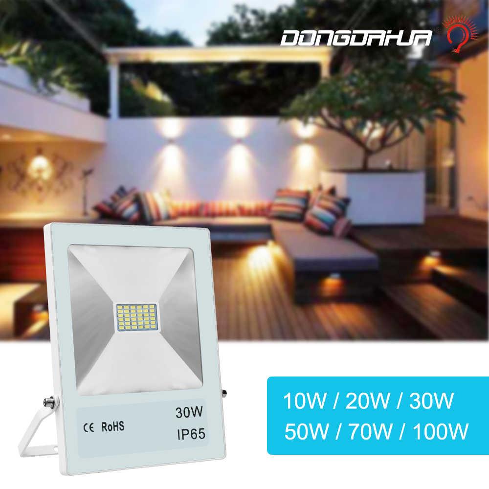 flood lights 30W 50W 70W 100W Led Floodlights Flood The External 220V Spotlights lamp Garden External reflector projecte lights