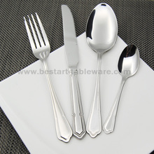 Good quality 24pcs stainless steel dinnerware set elegant spoons forks knives flatware set