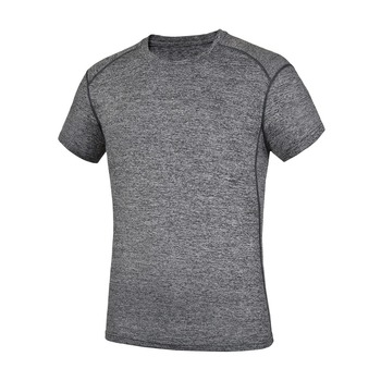 Brand Mens Quick-drying t-shirts Sweat absorbent breathable for hiking camping climbing fishing sport short sleeve t-shirt